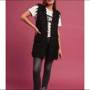 Vera Black Textured Vest by Harlyn